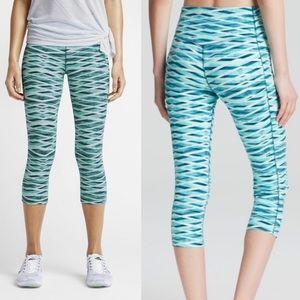 Nike Legendary Cropped Leggings Blue Print SzXS